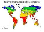 r partition moyenne des r gions climatiques