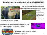 simulations zoom guid lmdz orchidee