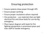 ensuring protection