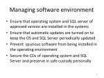 managing software environment