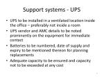 support systems ups