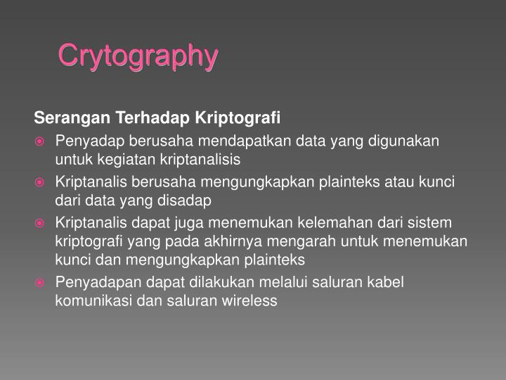 Crytography