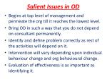 salient issues in od