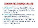 unfreezing changing freezing
