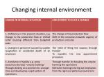 changing internal environment