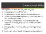 generational shifts1