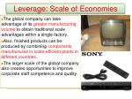 leverage scale of economies