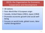 oecd the organization for economic cooperation and development