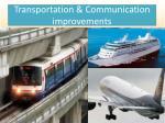transportation communication improvements