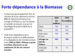 forte d pendance la biomasse