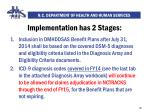 implementation has 2 stages