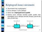 kriptografi kunci nirsimetri