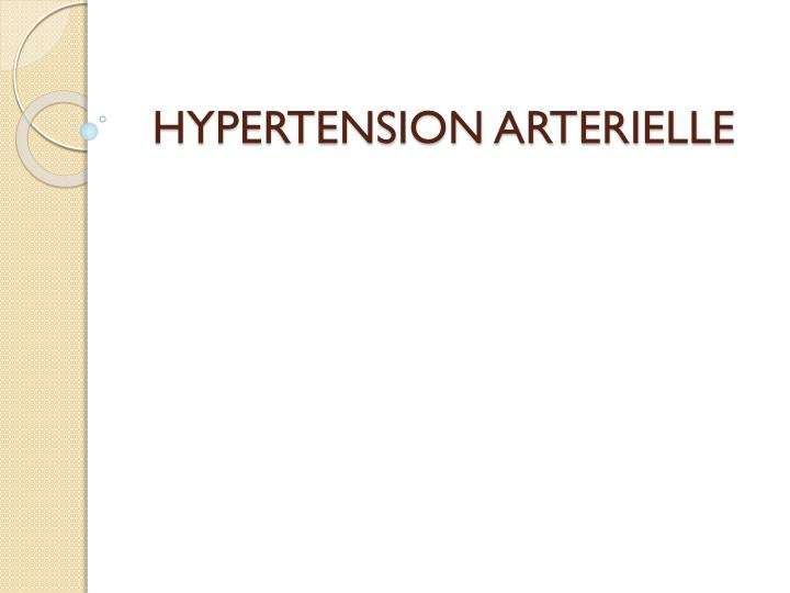 hypertension arterielle n.