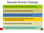 results driven change