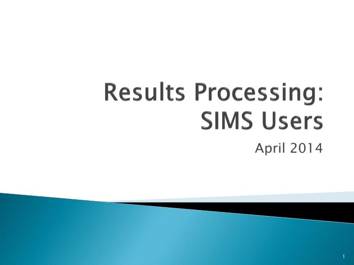 results processing sims users n.