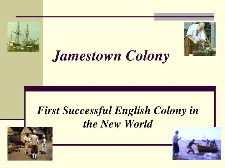 jamestown colony n.
