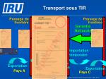 transport sous tir