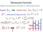 dimension formula