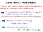 some physical mathematics