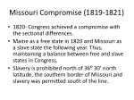 missouri compromise 1819 18211