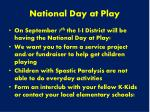 national day at play