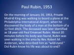 paul rubin 1953