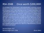 rsa 2048 once worth 200 000