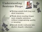 understanding sentence shape