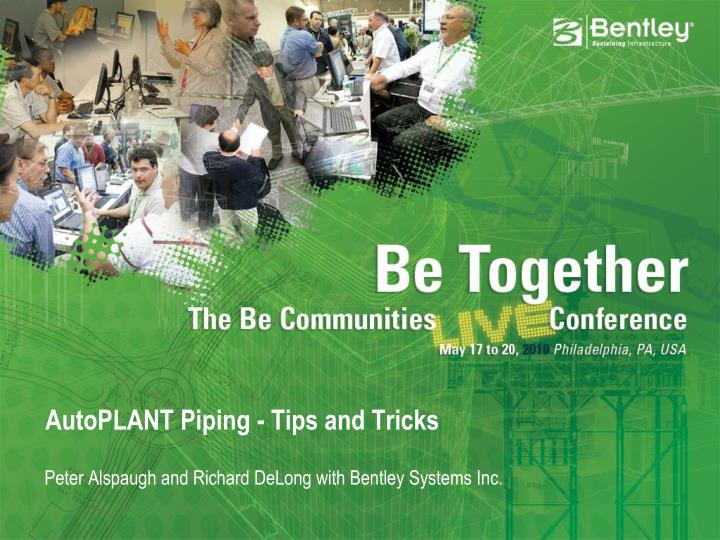 autoplant piping tips and tricks n.