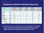 explanatory variable results democracy
