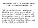 mary shelley letter to p b shelley on william cobbett author of rural rides 1830