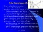 rbm sampling and training