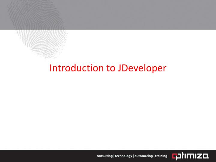 introduction to jdeveloper n.