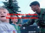 child soldiers in bosnia background information