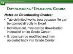 downloading uploading grades2