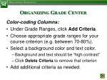 organizing grade center7