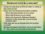 problems with blackboard
