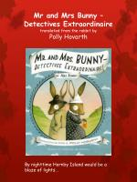 mr and mrs bunny detectives extraordinaire translated from the rabbit by polly hovarth