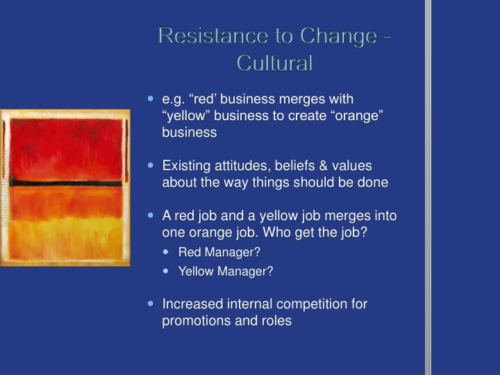 Resistance to Change - Cultural