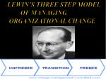 lewin s three step model of managing organizational change