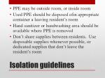 isolation guidelines