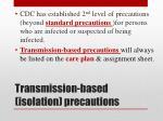 transmission based isolation precautions