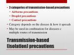 transmission based isolation precautions1