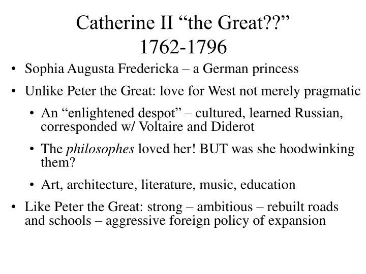 catherine the great enlightened despot