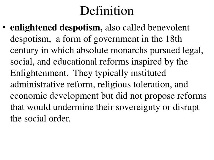 enlightened despot definition