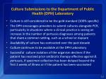 culture submissions to the department of public health dph laboratory