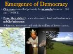 emergence of democracy