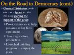 on the road to democracy cont