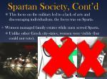 spartan society cont d