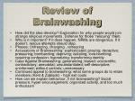 review of brainwashing